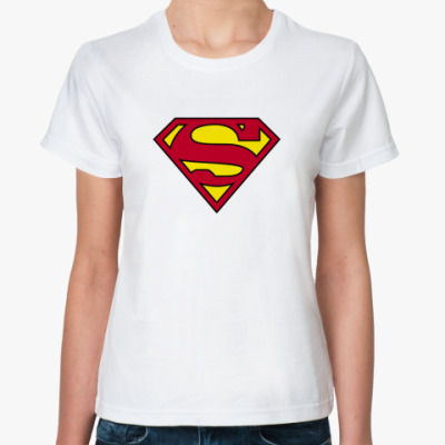 Классическая футболка  футболка супервумен