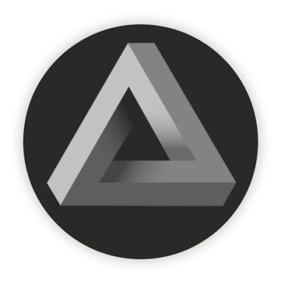 Костер (подставка под кружку) Невозможный Треугольник 3D