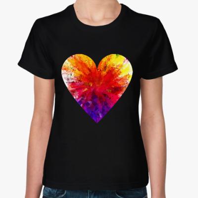 Женская футболка Сердечко