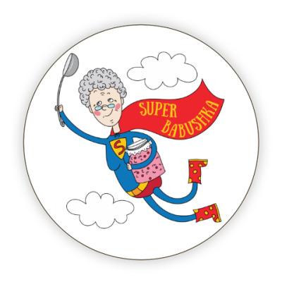 Костер (подставка под кружку) Супер - бабушка!