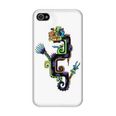 Чехол для iPhone 4/4s Кетцалькоатль