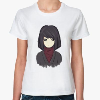 Классическая футболка Девочка-аниме