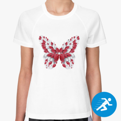 Женская спортивная футболка Бабочка