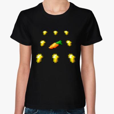 Женская футболка MineCraft - Золотая морковь
