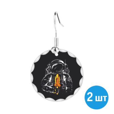 Серьги Космонавт с леденцом