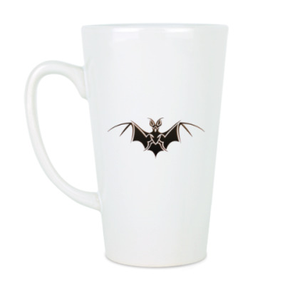 Чашка Латте Летучая мышь