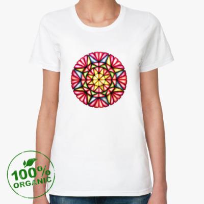 Женская футболка из органик-хлопка Калейдоскоп Март