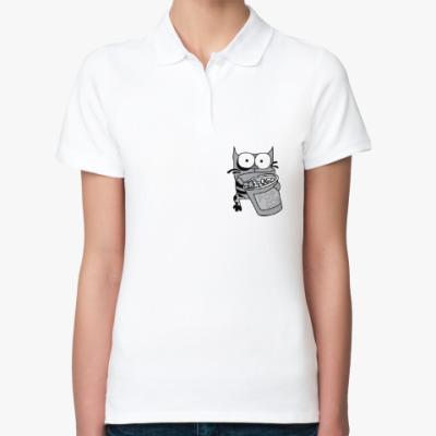 Женская рубашка поло Упячка Кот