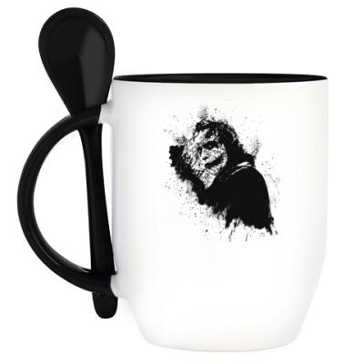 Кружка с ложкой Joker