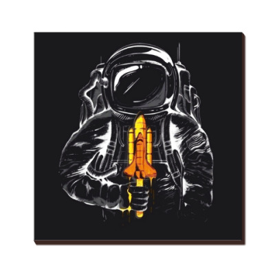 Космонавт с леденцом