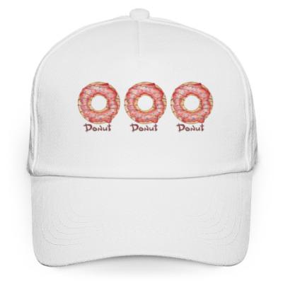 Кепка бейсболка сладкая иллюстрация с пончиком