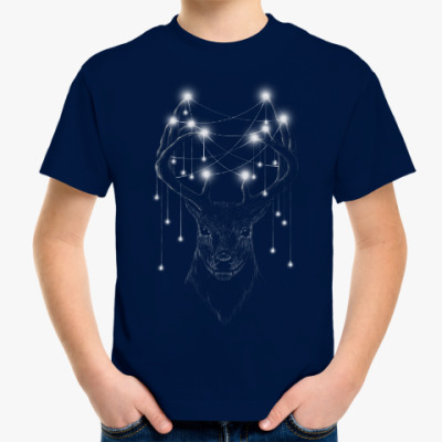 Детская футболка Новогодний олень X-mas Deer
