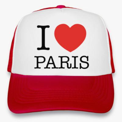 Кепка-тракер I Love Paris