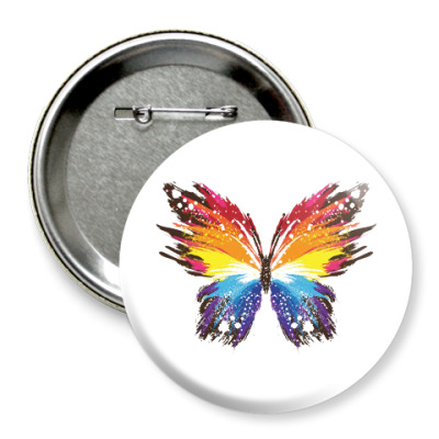 Значок 75мм Бабочка