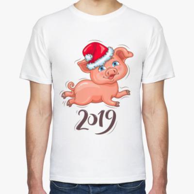 Футболка Новогодняя Свинка 2019