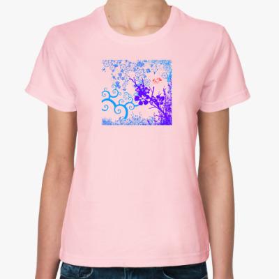 Женская футболка Сакура