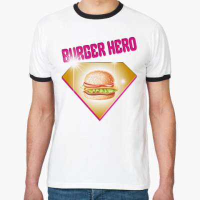Футболка Ringer-T BURGER HERO