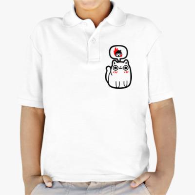 Детская рубашка поло Котик злой