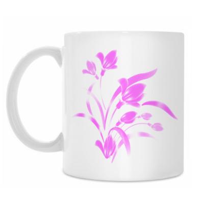 Кружка розовый шёлк