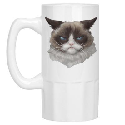 Пивная кружка Grumpy Cat / Сердитый Кот