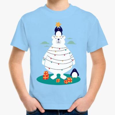 Детская футболка Новый год на Северном Полюсе