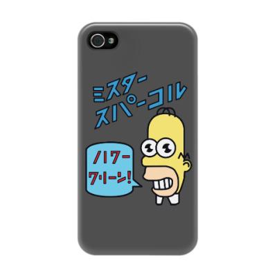 Чехол для iPhone 4/4s Симпсоны: Японский Гомер