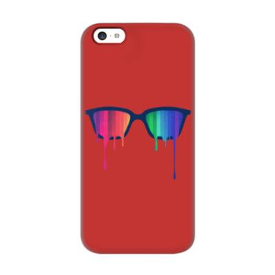 Чехол для iPhone 5c Хипстер: очки
