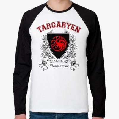 Футболка реглан с длинным рукавом House Targaryen