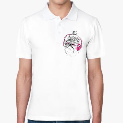 Рубашка поло Новогодняя смешная обезьянка