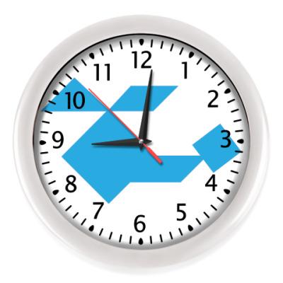Настенные часы Вертолёт танграм