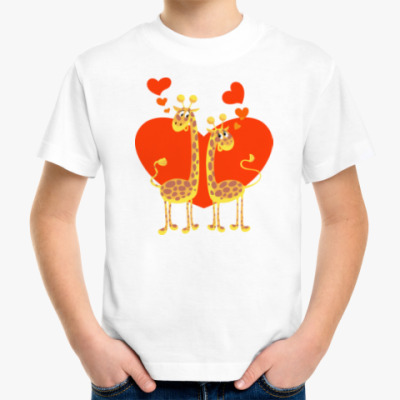 Детская футболка ЖИРАФЫ НА СЕРДЦЕ