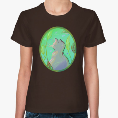 Женская футболка морской кот