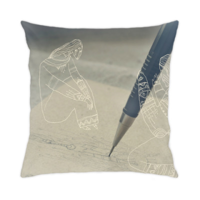 Подушка Руки художника