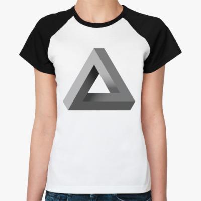 Женская футболка реглан Невозможный Треугольник 3D