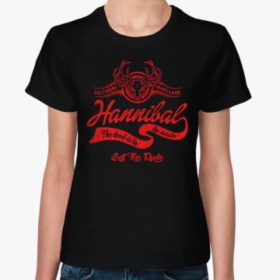 Женская футболка Hannibal