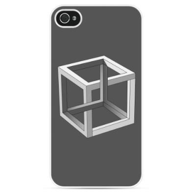 Чехол для iPhone Невозможный Куб 3D