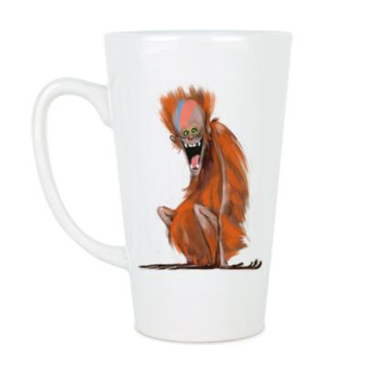 Чашка Латте Огненная Обезьяна