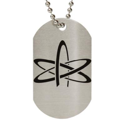 Жетон dog-tag символ атеизма