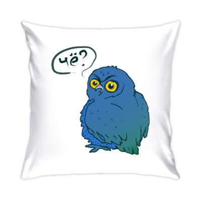 Подушка Синяя сова