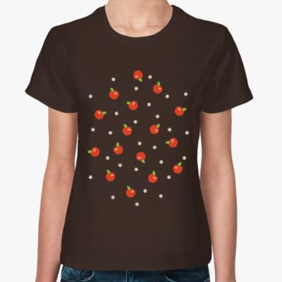 Женская футболка Яблочки
