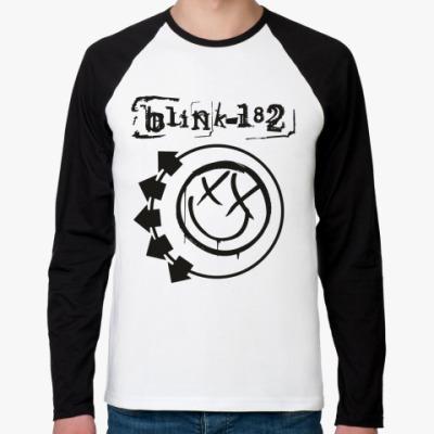 Футболка реглан с длинным рукавом Blink 182