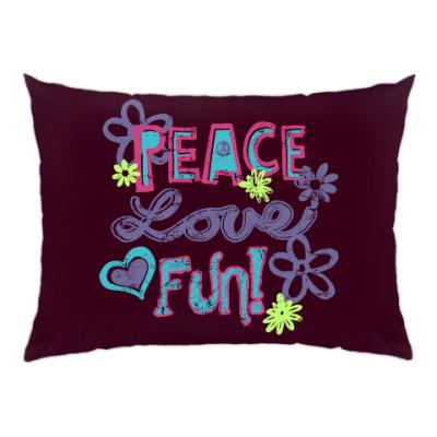 Подушка Мир, Любовь, Веселье!
