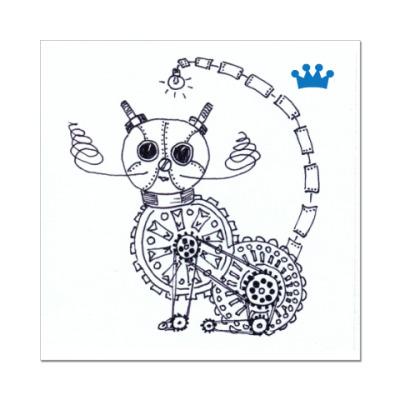Наклейка (стикер) стимпанк-кот