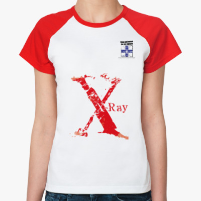 Женская футболка реглан Морской флаг «X-ray»