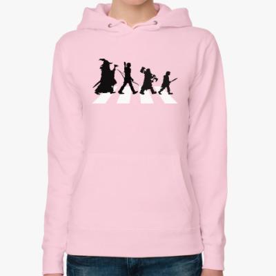 Женская толстовка худи Властелин Колец - Abbey Road