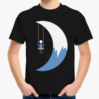 Детская футболка Качели на Луне