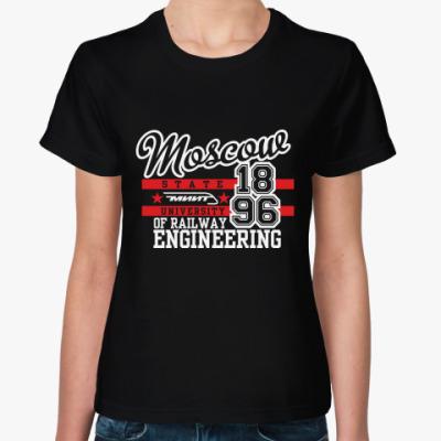 Женская футболка МИИТ