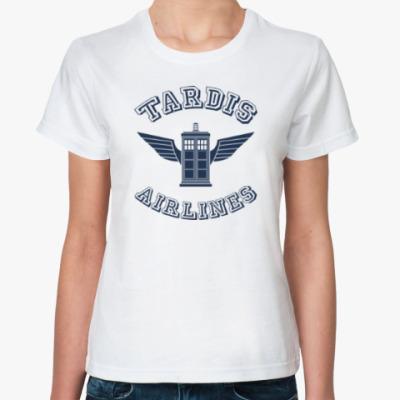 Классическая футболка Tardis Airlines