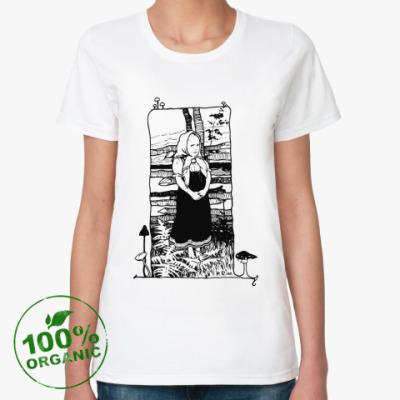 Женская футболка из органик-хлопка Fringe, С Днем Рождения!