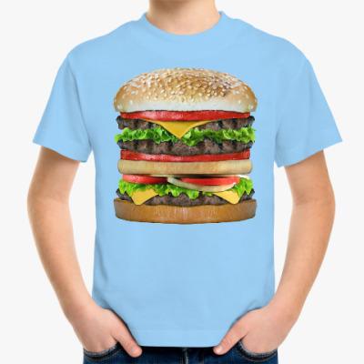 Детская футболка Вкусняшка гамбургер